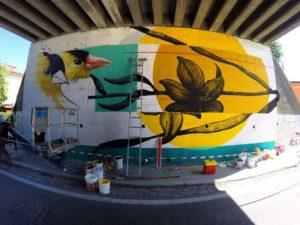 Camposanto: torna Quadricromie con un corso di street art e un nuovo murales