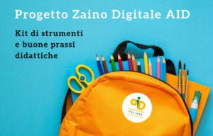 Zaino digitale AID per 500 scuole. Aperto il bando