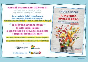 Sprechi zero, tutti possono riuscirci, parola di Andrea Segrè. Martedì 24 settembre presenta il suo libro a Modena