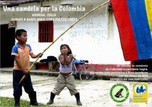 Una candela per la Colombia – Manifestazione a Modena in piazza Torre sabato 8 maggio