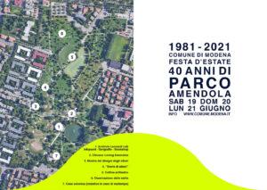 Modena – Parco Amendola, tre giorni di festa per i 40 anni